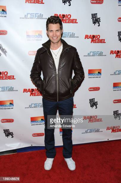"Actor Drew Seeley arrives at Disney's ""Radio Rebel"" Los Angeles Premiere at AMC CityWalk Stadium 19 at Universal Studios Hollywood on February 15,..."