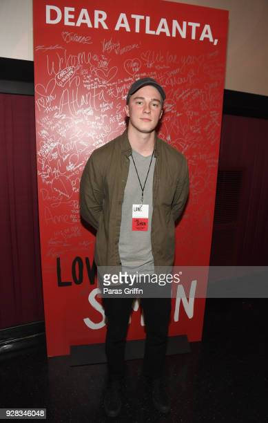 Actor Drew Starkey attends Love Simon Atlanta Fan Screening and QA at Regal Atlantic Station on March 6 2018 in Atlanta Georgia