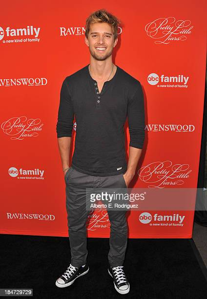 Actor Drew Van Acker attends a screening of ABC Family's Pretty Little Liars Halloween episode at Hollywood Forever Cemetery on October 15 2013 in...