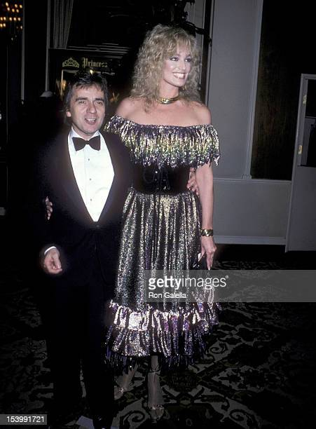 Actor Dudley Moore and actress Susan Anton attend the 39th Annual Golden Globe Awards on January 30 1982 at the Beverly Hilton Hotel in Beverly Hills...
