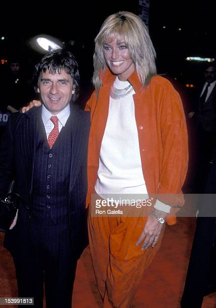 Actor Dudley Moore and Actress Susan Anton attend the 'Missing' New York City Premiere on February 11 1982 at the Beekman Theater in New York City