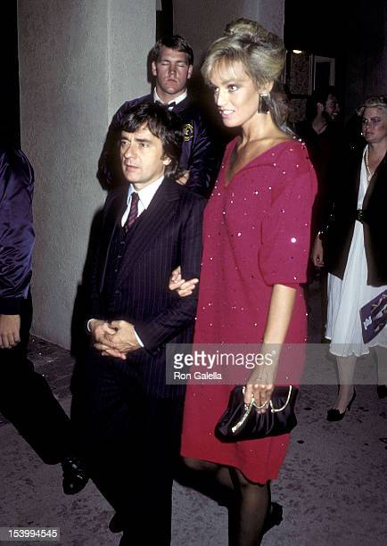 Actor Dudley Moore and actress Susan Anton attend the 'Never Say Never Again' Premiere Party on October 10 1983 at the Westwood Marquis Hotel in...
