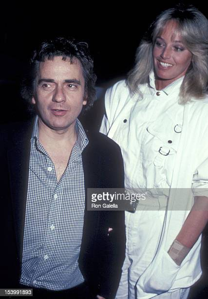 Actor Dudley Moore and actress Susan Anton on April 7, 1983 dines at Spago in West Hollywood, California.