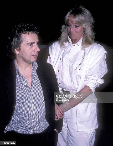 Actor Dudley Moore and actress Susan Anton on April 7 1983 dines at Spago in West Hollywood California