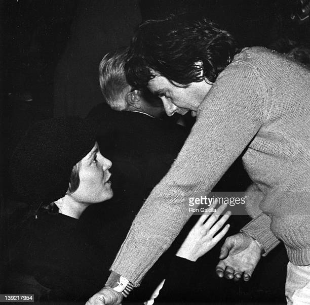 Actor Dudley Moore and actress Tuesday Weld attend the opening of 'The Good Doctor' on February 10 1974 at the Eugene O'Neill Theater in New York City