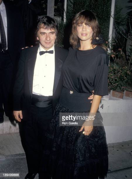 Actor Dudley Moore and date Brogan Lane attend the Vanity Fair Magazine Party on October 7 1987 at Spago in West Hollywood California