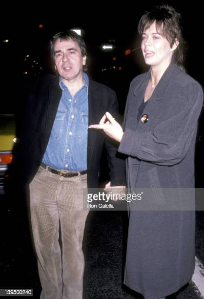 Actor Dudley Moore and date Brogan Lane on November 19 1985 dine at Elaine's Restaurant in New York City