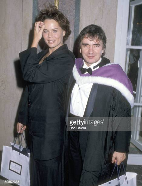Actor Dudley Moore and wife Brogan Lane attend the Oxford University's $400 Million Fundraiser Campaign KickOff Dinner on September 19 1989 at The...