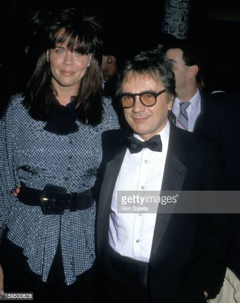 Actor Dudley Moore and wife Brogan Lane attend the Second Annual American Comedy Awards on May 17 1988 at Hollywood Palladium in Hollywood California