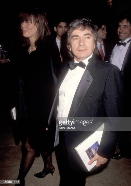 Actor Dudley Moore and wife Brogan Lane attend The Society of Singers' Second Annual Ella Award Salute to Frank Sinatra on December 3 1990 at Beverly...