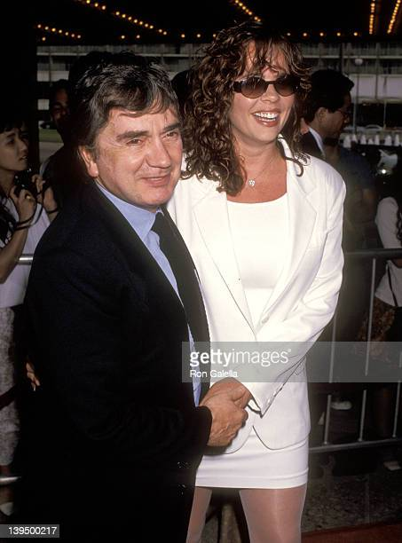 Actor Dudley Moore and wife Brogan Lane attend the Terminator 2 Judgment Day Century City Premiere on July 1 1991 at Cineplex Odeon Century Plaza...