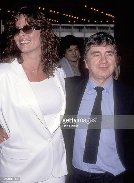 Actor Dudley Moore and wife Brogan Lane attend the 'Terminator 2 Judgment Day' Century City Premiere on July 1 1991 at Cineplex Odeon Century Plaza...
