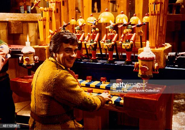 Actor Dudley Moore in a scene from the film 'Santa Claus' 1985