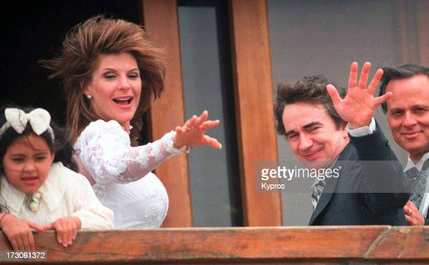 Actor Dudley Moore marries Nicole Rothschild on April 16 1994 at Dudley Moore's Home in Marina del Rey California