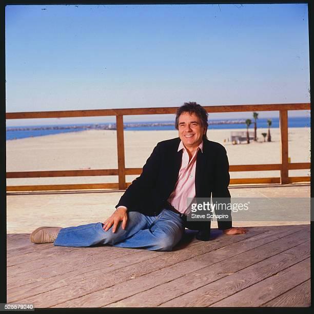 Actor Dudley Moore on Deck
