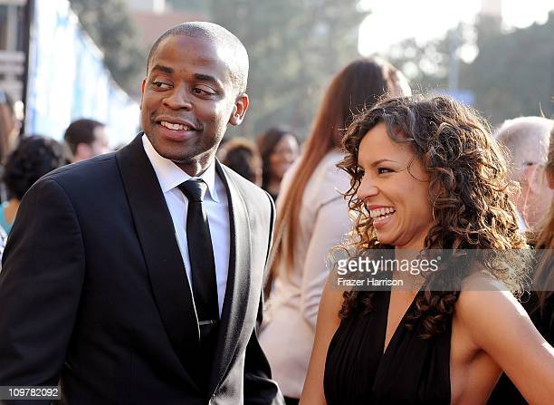 Actor Dule Hill and Nicole Lyn arrives at the 42nd NAACP Image Awards held at The Shrine Auditorium on March 4 2011 in Los Angeles California