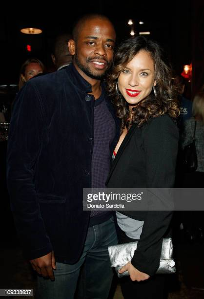 Actor Dule Hill and wife Nicole Lyn attend Vanity Fair Campaign Hollywood 2011's kick off with Chrysler Celebrating The Fighter held at the District...