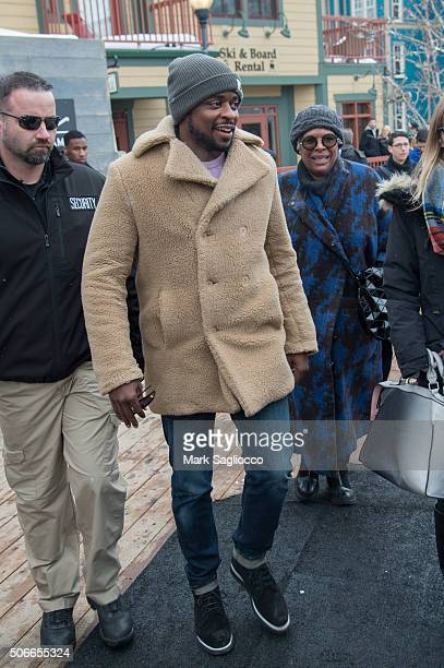 Actor Dule Hill is seen around town at the Sundance Film Festival on January 24 2016 in Park City Utah