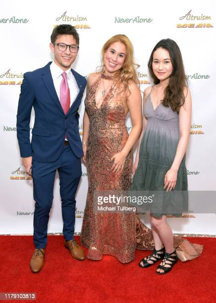 """Actor Duncan Anderson, Actor Ariel Michael and Activist Kori Malia attend the premiere of the film """"Never Alone"""" at Arena Cinelounge on October 04,..."""