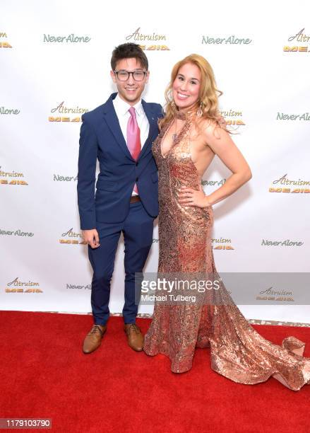 """Actor Duncan Anderson and Actor Ariel Michael attend the premiere of the film """"Never Alone"""" at Arena Cinelounge on October 04, 2019 in Hollywood,..."""
