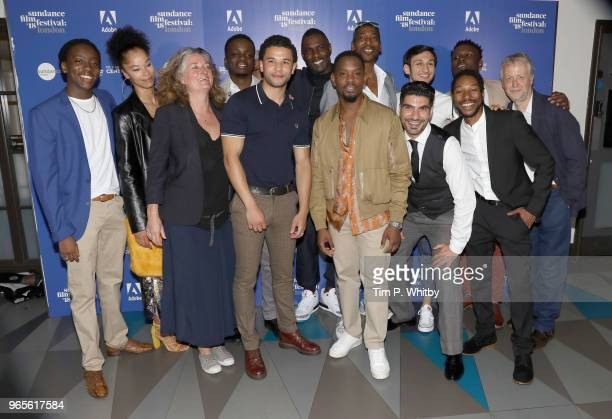 Actor Duramaney Kamara guest producer Gina Carter actors Riaze Foster Calvin Demba director Idris Elba actors Aml Ameen Johann Myers Akin Gazi Adnan...