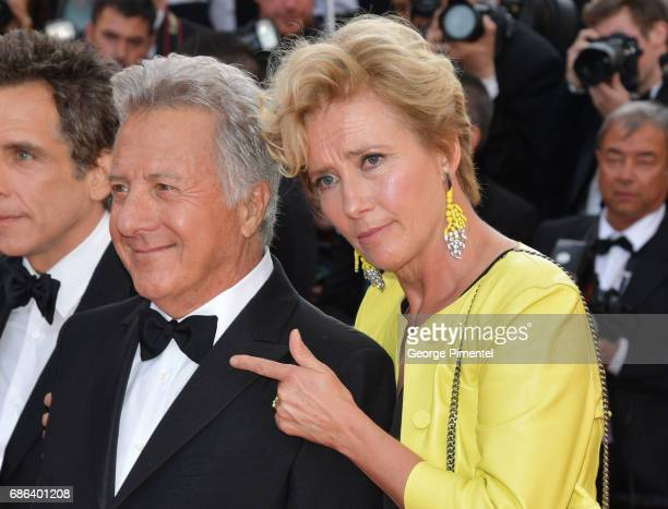 Actor Dustin Hoffman and Actress Emma Thompson attend 'The Meyerowitz Stories' screening during the 70th annual Cannes Film Festival at Palais des...