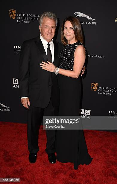 Actor Dustin Hoffman and businesswoman Lisa Hoffman attend the 2014 BAFTA Los Angeles Jaguar Britannia Awards Presented By BBC America And United...