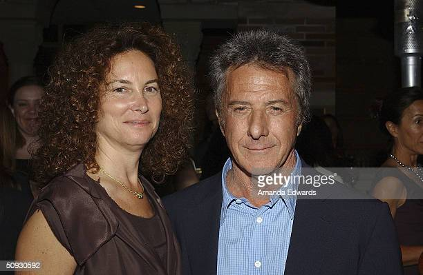 Actor Dustin Hoffman and his wife Lisa attend the 15th Anniversary of the Los Angeles Chamber Orchestra's Silent Film Festival on June 5 2004 at...