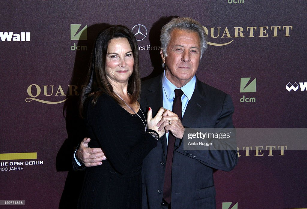 Actor Dustin Hoffman and his wife Lisa Gottsegen attend the 'Quartet' Berlin Photocall at Deutsche Oper on January 20, 2013 in Berlin, Germany.