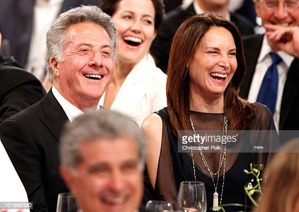 Actor Dustin Hoffman and Lisa Gottsegen in the audience during the 38th AFI Life Achievement Award honoring Mike Nichols held at Sony Pictures...