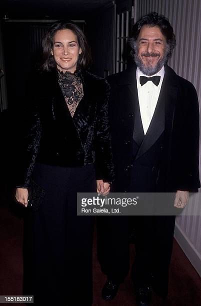 Actor Dustin Hoffman and wife Lisa Hoffman attend American Museum of the Moving Image Gala Honoring Mike Nichols on February 27, 1990 at the Waldorf...