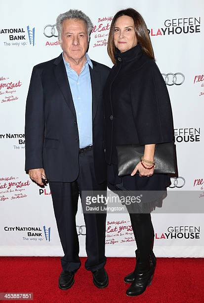 Actor Dustin Hoffman and wife Lisa Hoffman attend opening night of Bette Midler in 'I'll Eat You Last A Chat with Sue Mengers' at the Geffen...