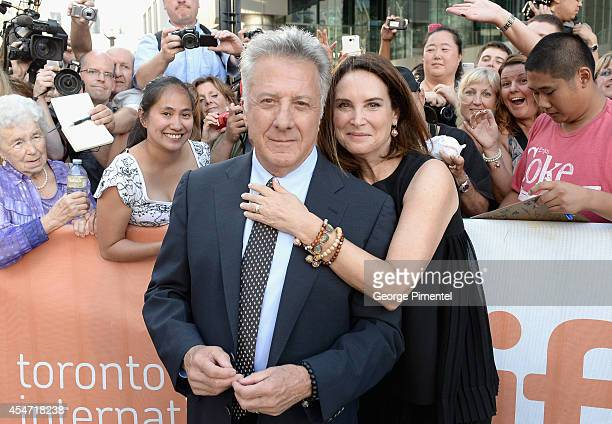 Actor Dustin Hoffman and wife Lisa Hoffman attend the Boychoir premiere during the 2014 Toronto International Film Festival at Roy Thomson Hall on...