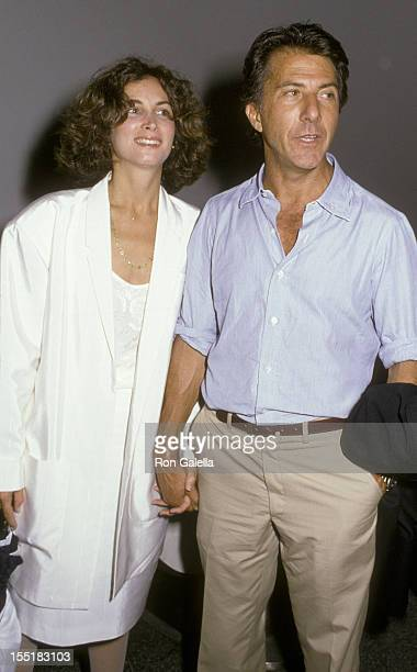 Actor Dustin Hoffman and wife Lisa Hoffman attend the performance of Death Of A Salesman on September 10 1985 at the Paramount Theater in New York...