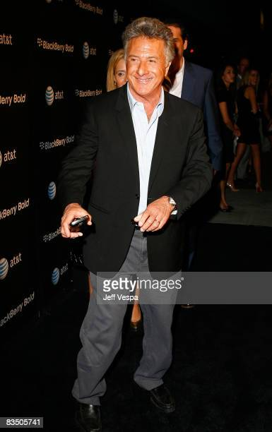 Actor Dustin Hoffman arrives at the Blackberry Bold launch party at a private residence on October 30 2008 in Beverly Hills California
