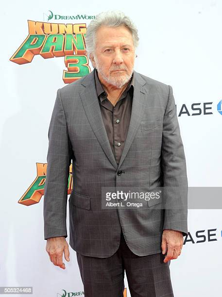 Actor Dustin Hoffman arrives for the premiere of DreamWorks Animation and Twentieth Century Fox's 'Kung Fu Panda 3' held at TCL Chinese Theatre on...