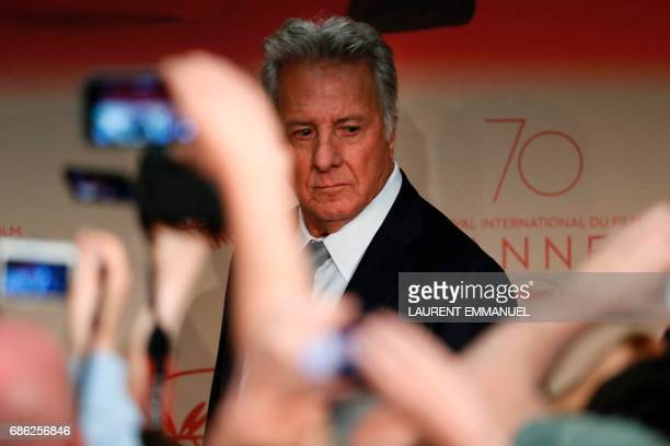 US actor Dustin Hoffman arrives on May 21 2017 for a press conference for the film 'The Meyerowitz Stories ' at the 70th edition of the Cannes Film...