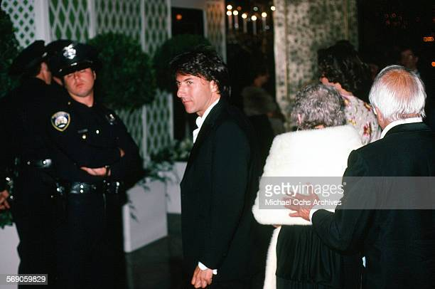 Actor Dustin Hoffman arrives to the 52nd Academy Awards at Dorothy Chandler Pavilion in Los AngelesCalifornia
