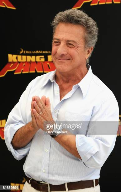 Actor Dustin Hoffman attends a photocall for Kung Fu Panda on June 24 2008 at the Santo Mauro Hotel in Madrid Spain