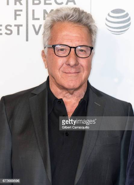 Actor Dustin Hoffman attends the 2017 Tribeca Film Festival Tribeca Talks Director's Series Noah Baumbach at BMCC Tribeca PAC on April 24 2017 in New...