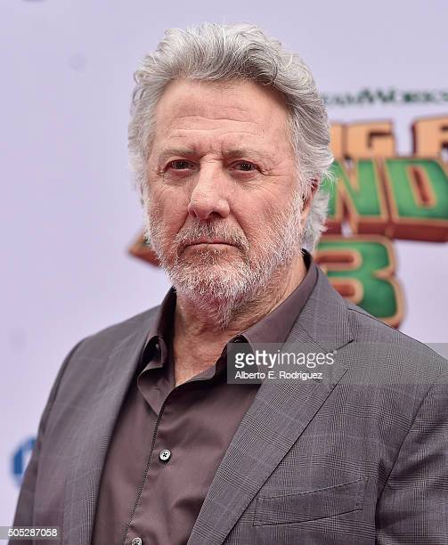 Actor Dustin Hoffman attends the premiere of DreamWorks Animation and Twentieth Century Fox's 'Kung Fu Panda 3' at TCL Chinese Theatre on January 16...