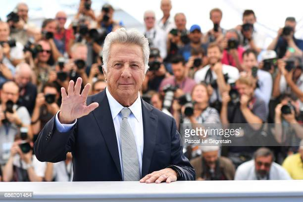 Actor Dustin Hoffman attends the 'The Meyerowitz Stories' photocall during the 70th annual Cannes Film Festival at Palais des Festivals on May 21...