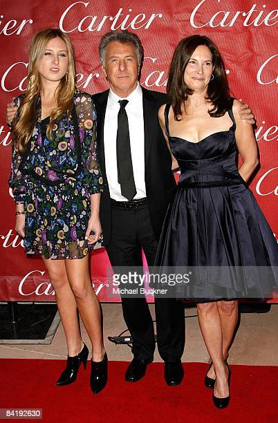 Actor Dustin Hoffman, daughter Alexandra Hoffman and wife Lisa Hoffman arrive at the 20th anniversary of the Palm Springs International Film Festival...