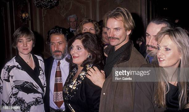 Actor Dustin Hoffman daughter Karina Hoffman musician Sting and guests attend the performance party for 'Merchant Of Venice' on December 8 1989 at...