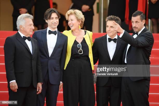 Actor Dustin Hoffman director Noah Baumbach actress Emma Thompson actor Ben Stiller and actor Adam Sandler of 'The Meyerowitz Stories' attend the The...