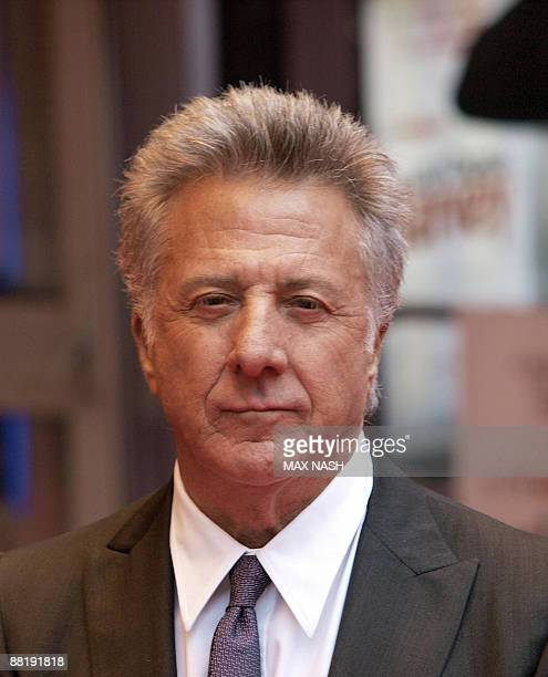 US actor Dustin Hoffman poses as he arrives for the British Premiere of his latest film 'Last Chance Harvey' in London's Leicester Square on June 3...