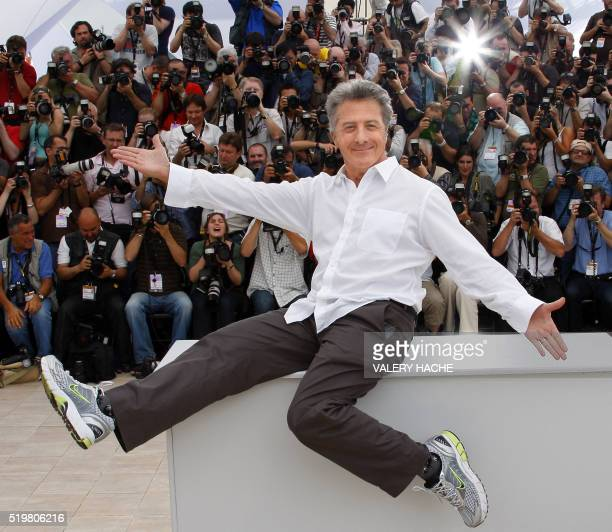 US actor Dustin Hoffman poses during a photocall for US directors John Stevenson and Mark Osborne animated film 'King Fu Panda' at the 61st Cannes...