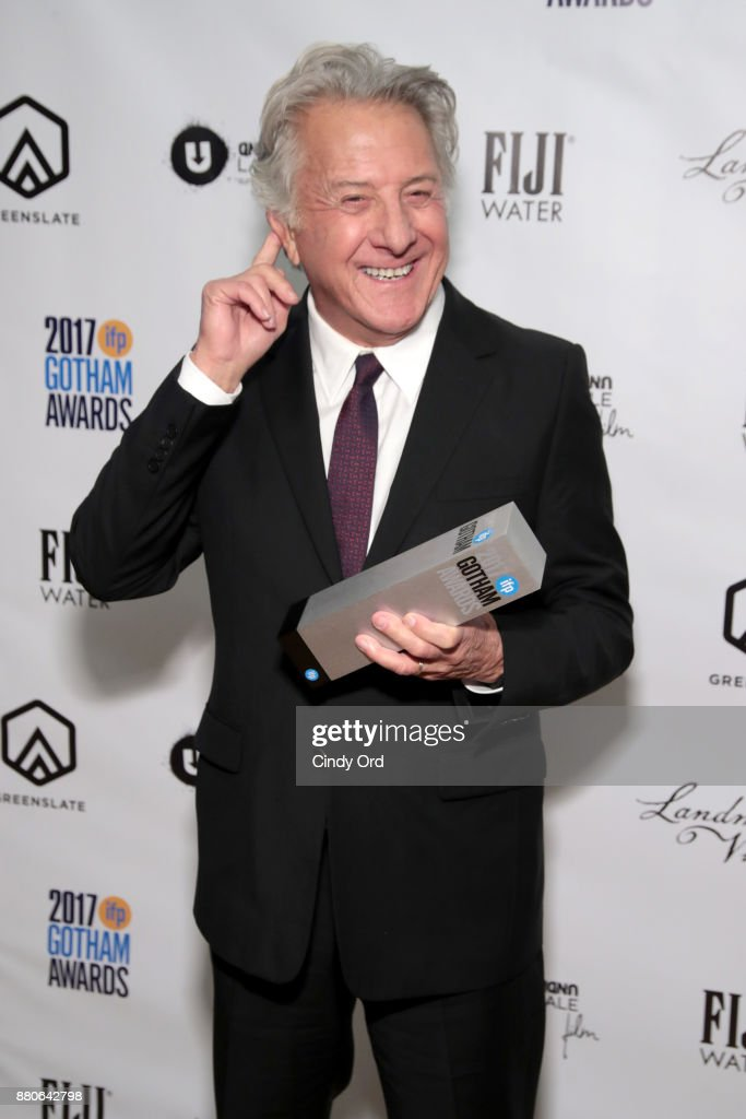 Actor Dustin Hoffman poses with his award backstage during IFP's 27th Annual Gotham Independent Film Awards on November 27, 2017 in New York City.