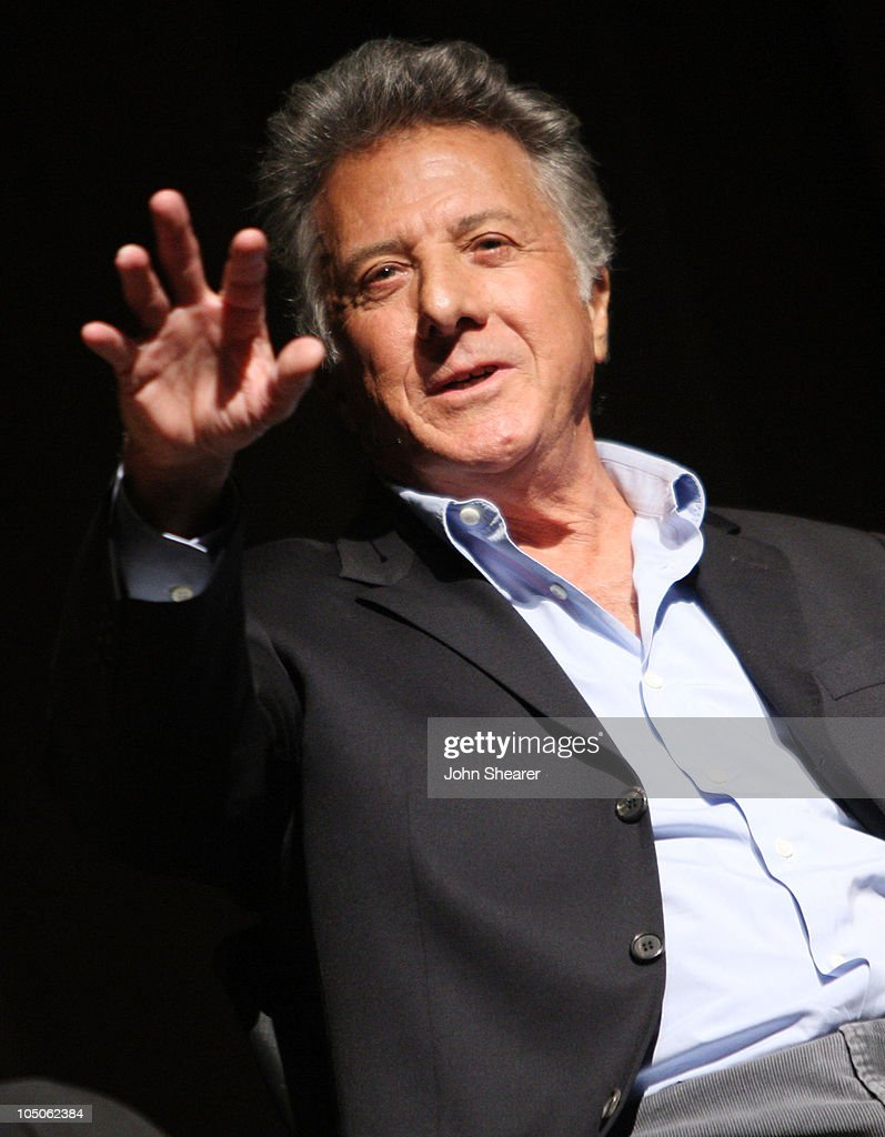 Actor Dustin Hoffman speaks at the Broad Stage's press breakfast announcing its 2009-2010 season at the Eli and Edythe Broad Theatre on April 30, 2009 in Santa Monica, California.