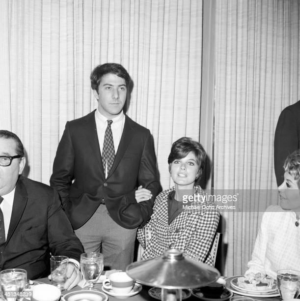 Actor Dustin Hoffman with actress Katharine Ross in Los Angeles California